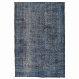Vintage recoloured rug color blue (288x180cm)