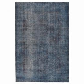 Vintage umgefärbt teppich farbe blau (288x180cm)