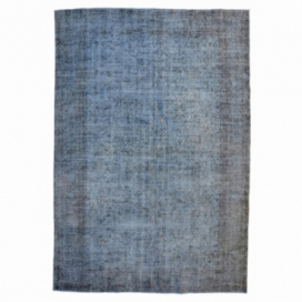 Vintage recoloured rug color grey (307x195cm)