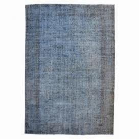 Vintage umgefärbt teppich farbe grau (307x195cm)