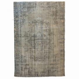 Vintage recoloured rug kleur grijs (290x191cm)