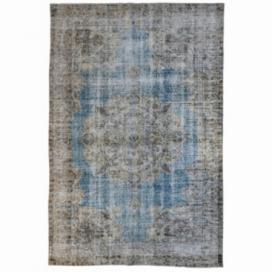 Vintage recoloured rug kleur beige/ white/ natural teinths (248x152cm)