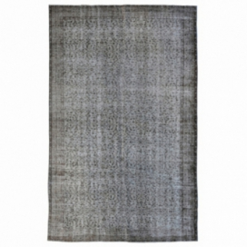 Vintage recoloured rug color grey (274x170cm)