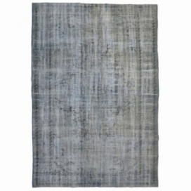 Vintage recoloured rug color grey (267x167cm)