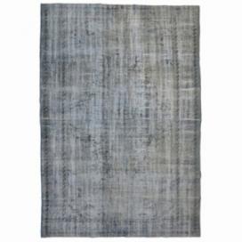 Vintage umgefärbt teppich farbe grau (267x167cm)