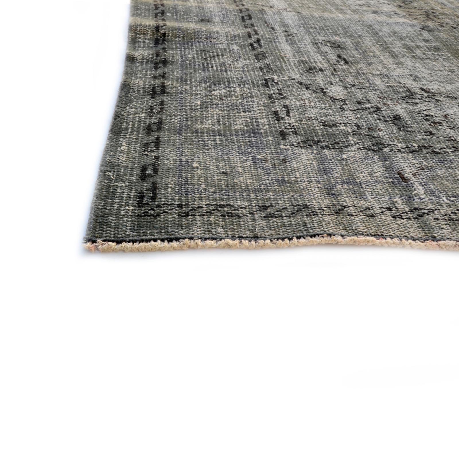 grau vintage umgef rbt teppich 267x167cm. Black Bedroom Furniture Sets. Home Design Ideas