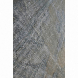 Vintage recoloured rug color grey (272x216cm)