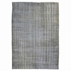Vintage recoloured rug color grey (286x185cm)