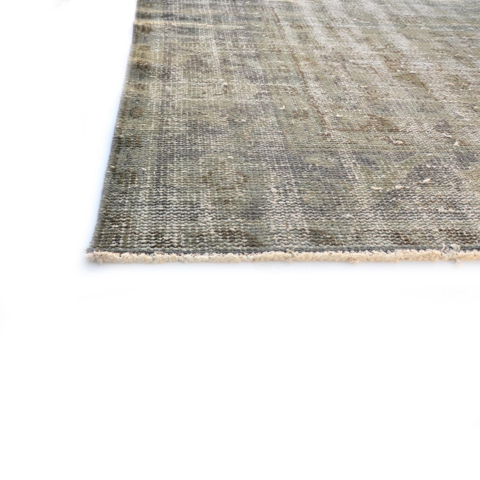 grau vintage umgef rbt teppich 286x185cm. Black Bedroom Furniture Sets. Home Design Ideas