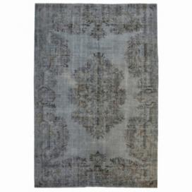Vintage recoloured rug kleur grijs (301x203cm)