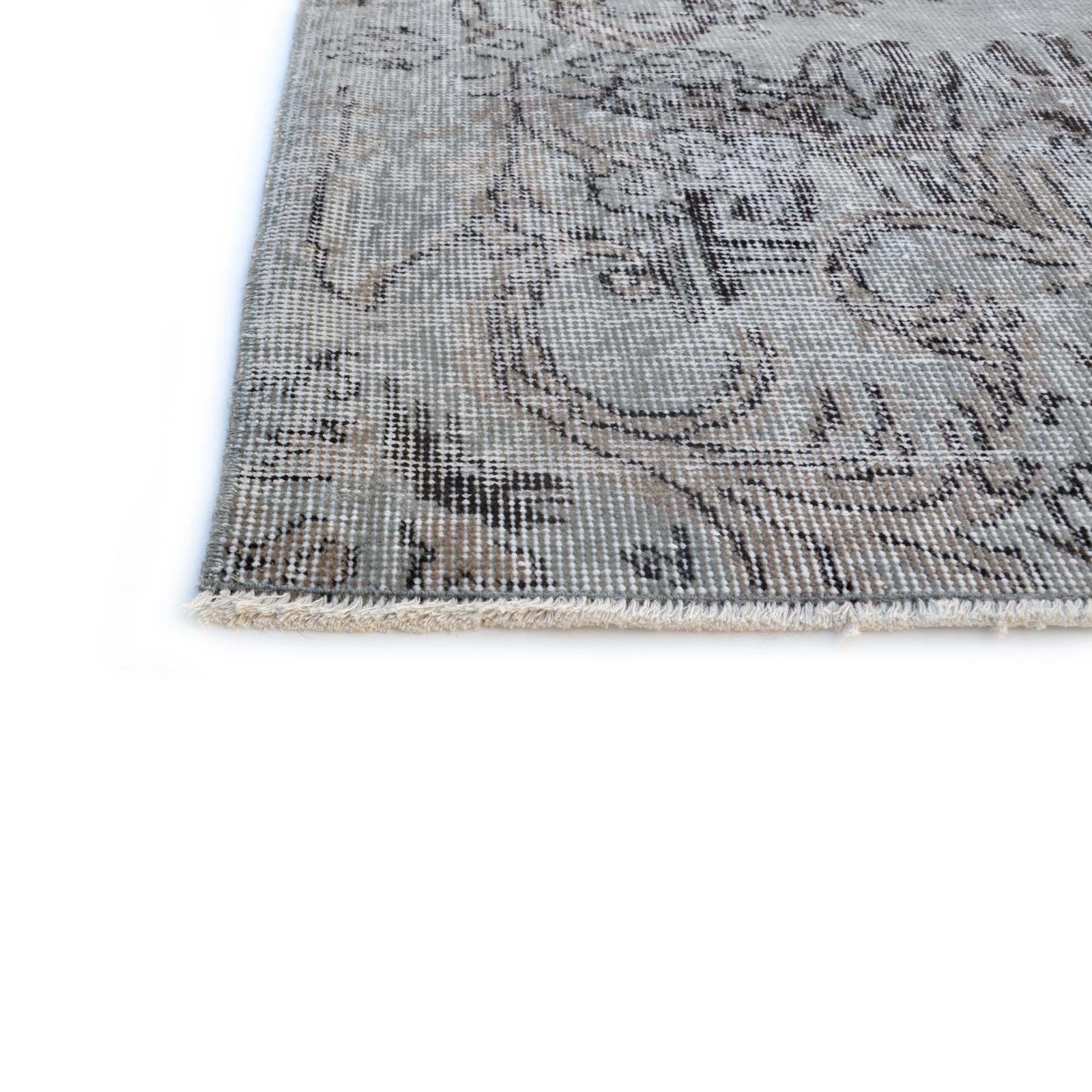 Grau vintage umgefärbt teppich (301x203cm)
