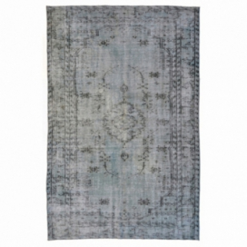 Vintage recoloured rug color grey (255x165cm)