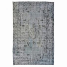 Vintage umgefärbt teppich farbe grau (255x165cm)
