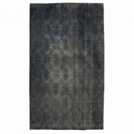 Vintage recoloured rug color grey (197x110cm)