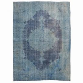 Vintage recoloured rug kleur indigo (295x210cm)