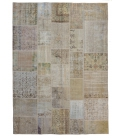 Vintage patchwork rug color natural (300x200cm)