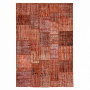 Vintage patchwork rug colore arancione (206x304cm)
