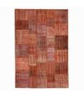 Vintage patchwork rug color orange (206x304cm)