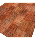 Vintage patchwork rug color orange (206x304cm)