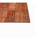 Vintage patchwork rug kleur oranje (206x304cm)