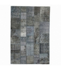 Vintage patchwork rug cor indigo (204x303cm)