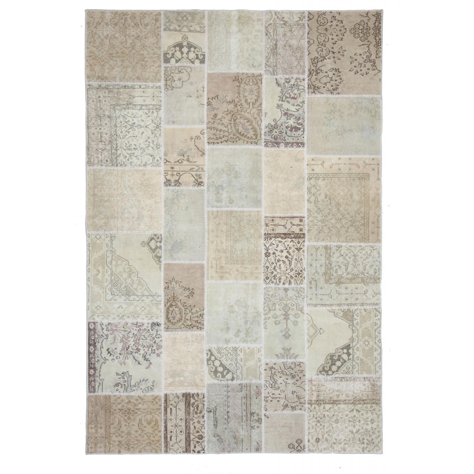Authentic vintage patchwork rug (200x300cm)