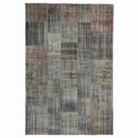 Vintage patchwork rug cor cinzento (200x298cm)