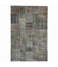 Vintage alfombra retazos color gris (200x298cm)