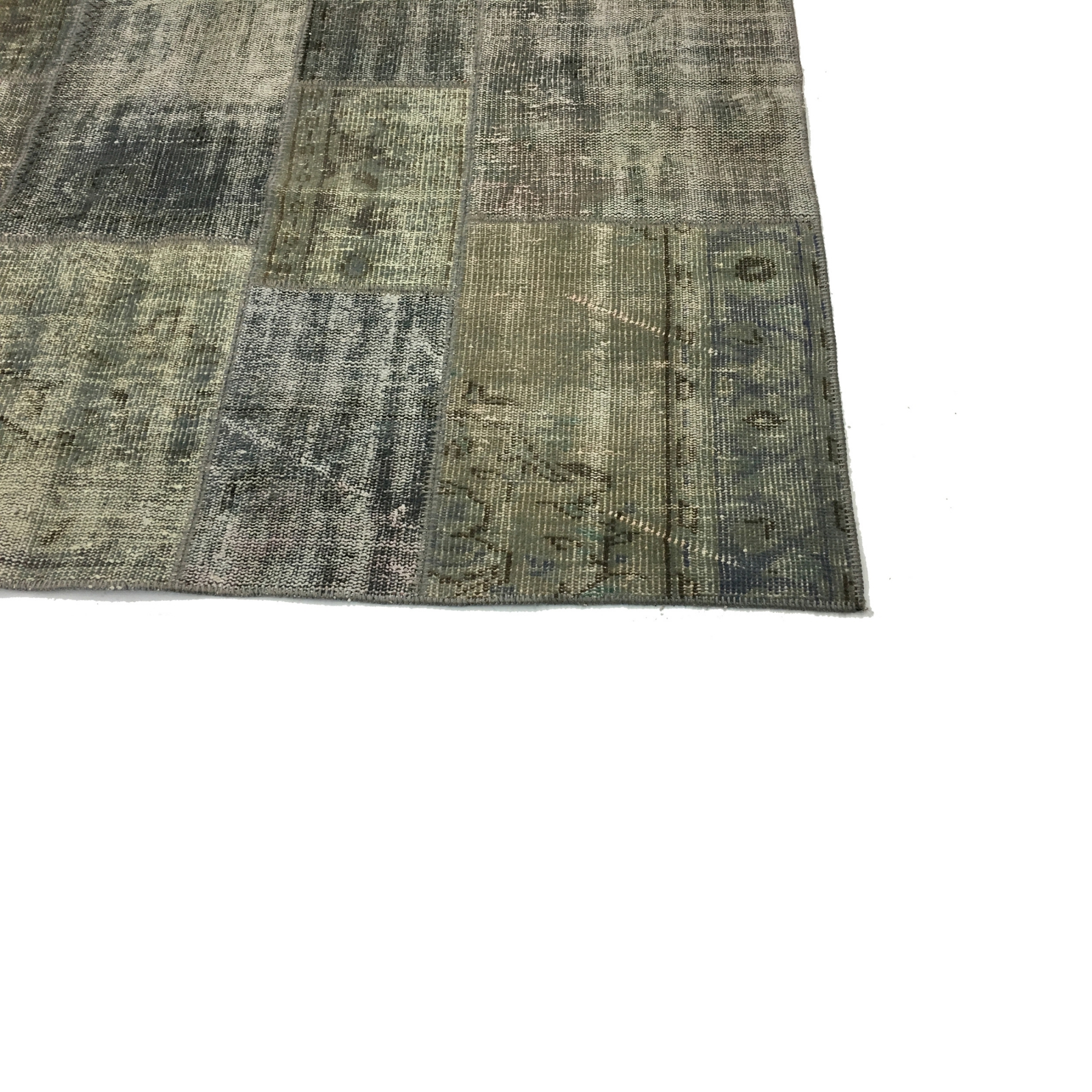 Grau vintage patchwork teppich (200x298cm)