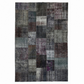 Vintage patchwork rug kleur grijs (200x300cm)