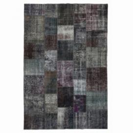 Vintage tapis de patchwork couleur gris (200x300cm)