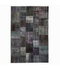 Vintage alfombra retazos color gris (200x300cm)