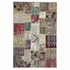 Vintage tapis de patchwork couleur natural (197x300cm)
