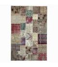 Vintage tapis de patchwork couleur natural (197x300cm)