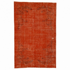 Vintage recoloured rug kleur oranje (161x250cm)