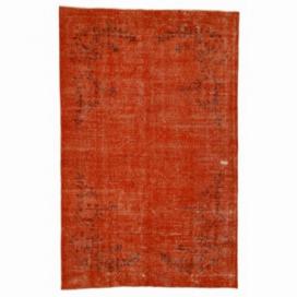 Vintage tapis recolorés couleur orange (161x250cm)