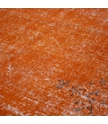 Vintage recoloured rug color orange (161x250cm)