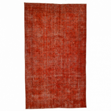 Vintage recoloured rug color orange (152x266cm)