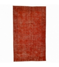 Vintage recoloured rug color orange (152x266cm)