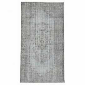 Vintage tapis recolorés couleur gris (153x280cm)