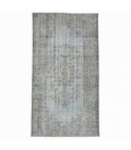 Vintage recoloured rug color grey (153x280cm)