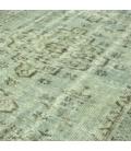 Vintage recoloured rug color grey (153x280cm)