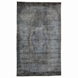 Vintage recoloured rug color blue (175x290cm)
