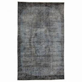Vintage tapis recolorés couleur bleu (175x290cm)