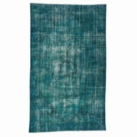 Vintage tapis recolorés couleur turquoise (165x274cm)