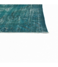 Vintage recoloured rug color turquoise (165x274cm)