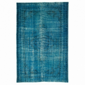 Vintage recoloured rug color turquoise (178x272cm)