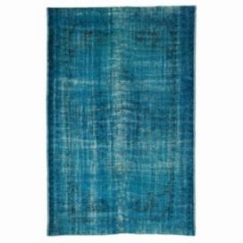 Vintage tapis recolorés couleur turquoise (178x272cm)