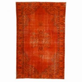 Vintage tapis recolorés couleur orange (175x280cm)