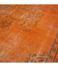 Vintage recoloured rug color orange (175x280cm)